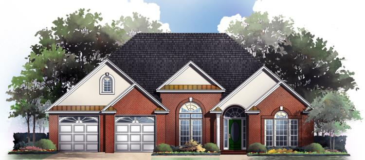 French Country Plan 1 900 Square Feet 3 Bedrooms 4