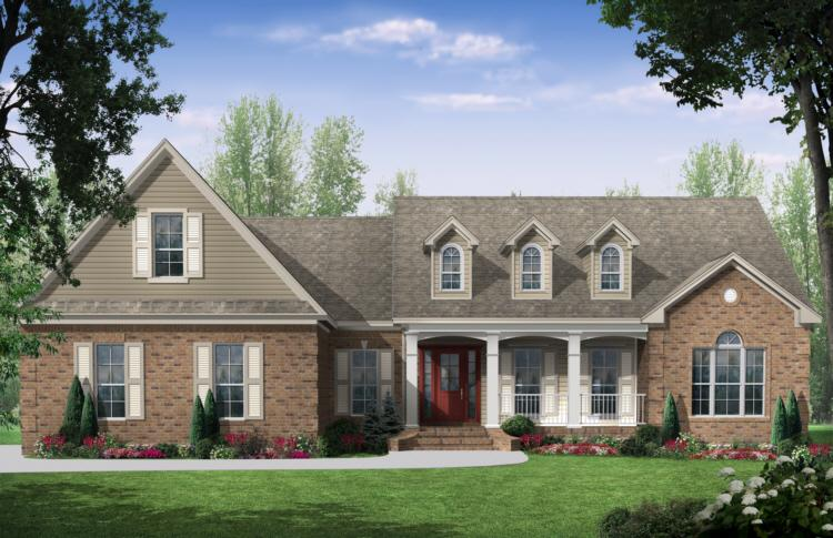 French Country Plan: 1,888 Square Feet, 3 Bedrooms, 2 Bathrooms ...