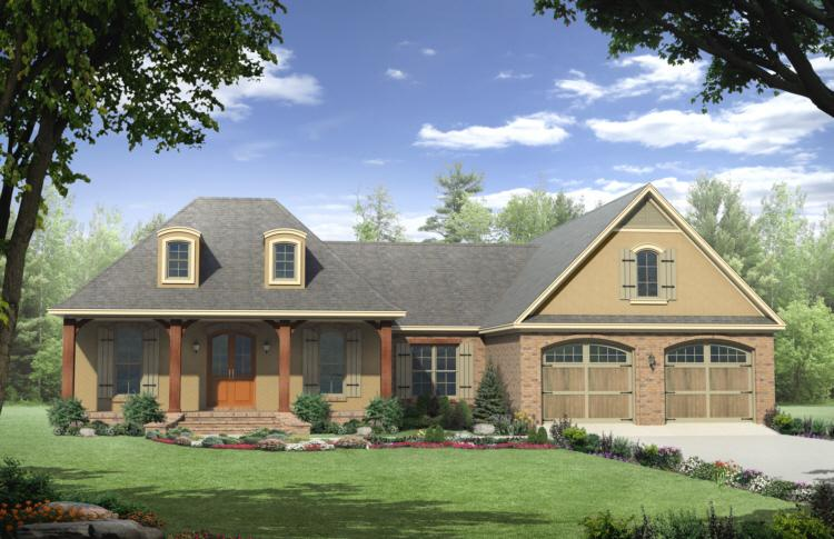 French country plan 2 000 square feet 3 bedrooms 2 5 for Modern french country house plans