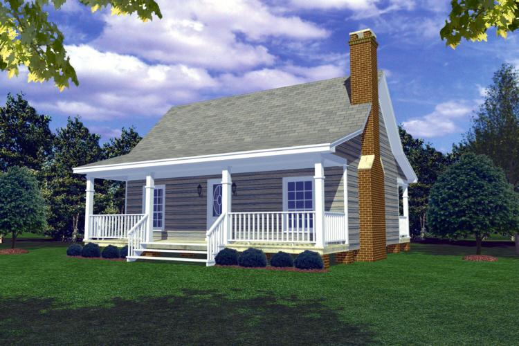 Cottage plan 600 square feet 1 bedroom 1 bathroom 348 for Cost to build 1500 sq ft cabin