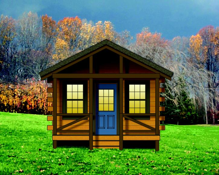 Cabin plan 260 square feet 1 bedroom 1 bathroom 154 00004 for 300 square foot cabin