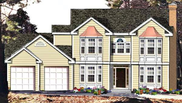 4 Bed, 3 Bath, 2334 Square Foot House Plan - #033-00079