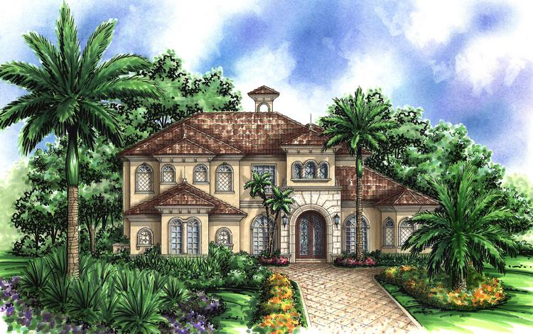 4 Bed, 5 Bath, 5064 Square Foot House Plan - #575-00058