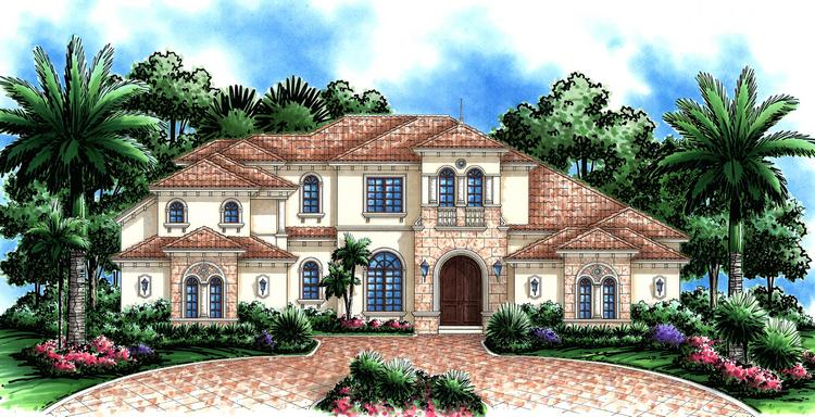 4 Bed, 4 Bath, 4523 Square Foot House Plan - #575-00060