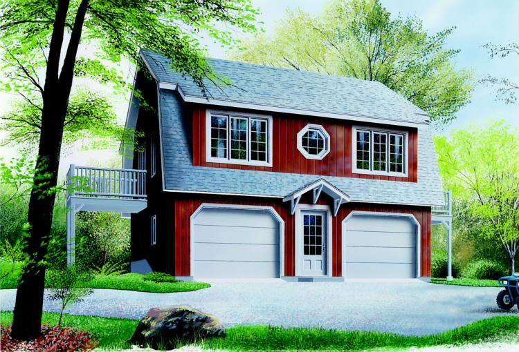 2 Bed, 1 Bath, 992 Square Foot House Plan - #034-00062