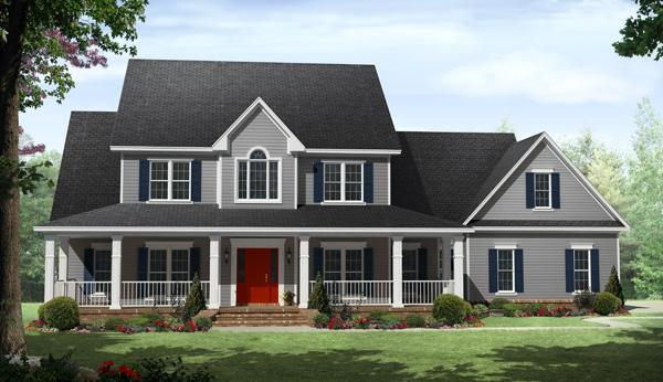 Country plan 3 000 square feet 4 bedrooms 3 5 bathrooms 348 00201 - Medium sized two story house plans ...