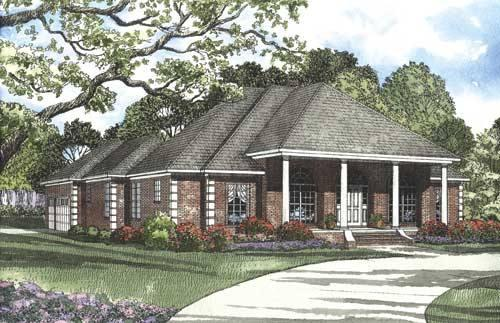 4 Bed, 3 Bath, 2555 Square Foot House Plan - #110-00324