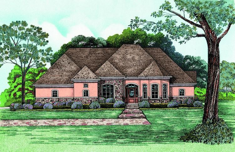 Ranch Plan: 2,679 Square Feet, 4 Bedrooms, 3 Bathrooms - 402-01027