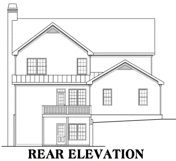 House Plan 009-00031 - Cape Cod Plan: 3,525 Square Feet, 5 Bedrooms, 4  Bathrooms