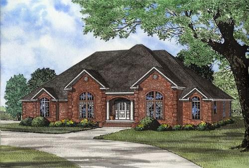 Traditional plan 2 695 square feet 3 bedrooms 3 - Casas americanas modernas ...