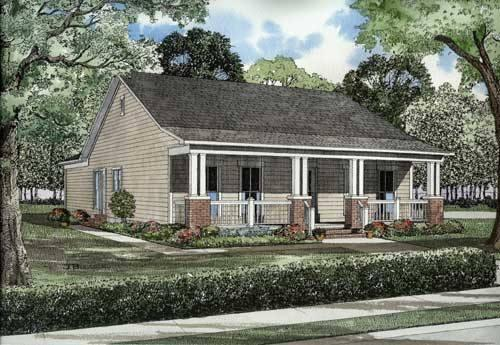 3 Bed, 2 Bath, 1374 Square Foot House Plan - #110-00478