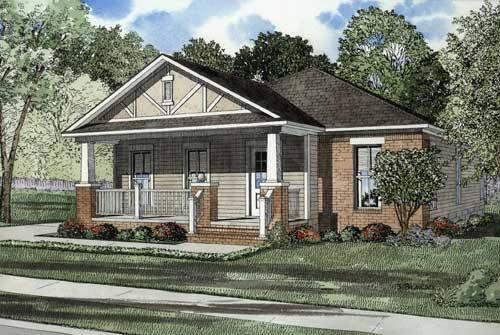3 Bed, 2 Bath, 1348 Square Foot House Plan - #110-00481