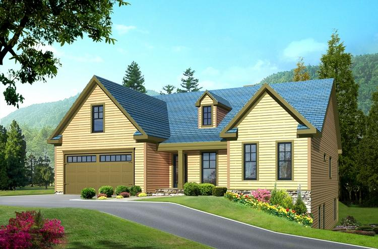Cabin plan 3 513 square feet 3 bedrooms 2 5 bathrooms for Chalet house plans with attached garage
