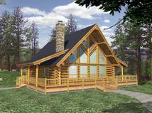plan039 00034 - Cabin House Plans