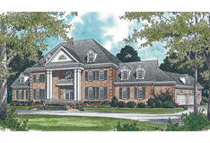 Georgian Style Home Plans Colonial House Plans Floor Plans