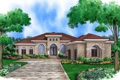 Mediterranean House Plans floor plan Plan5565 00006
