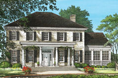 Greek Revival House Plans Classical Home Designs and Floor Plans
