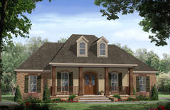 plan348 00186 - French Country House Plans With Porte Cochere