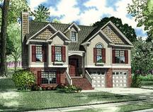 split foyer amp level house plans home designs