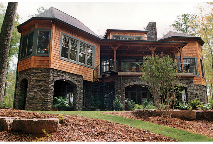 Lake front plan 4 304 square feet 4 bedrooms 4 5 for Luxury lake house plans
