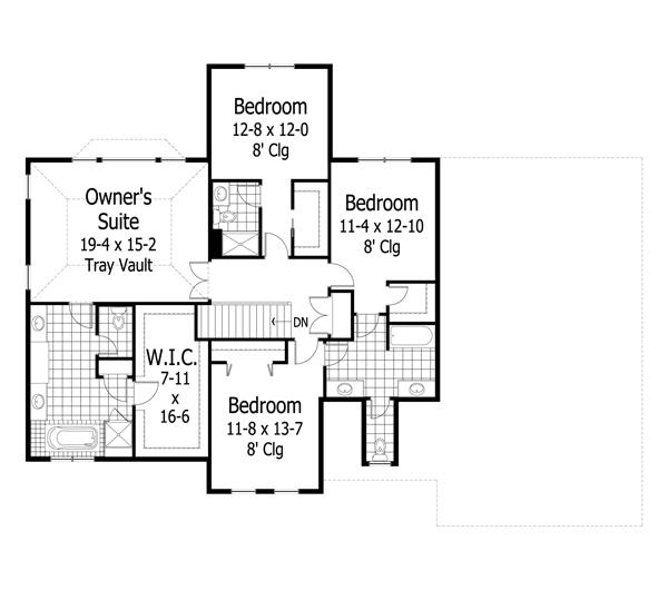 Three Brothers Bungalows: Craftsman Plan: 3,313 Square Feet, 4 Bedrooms, 3.5