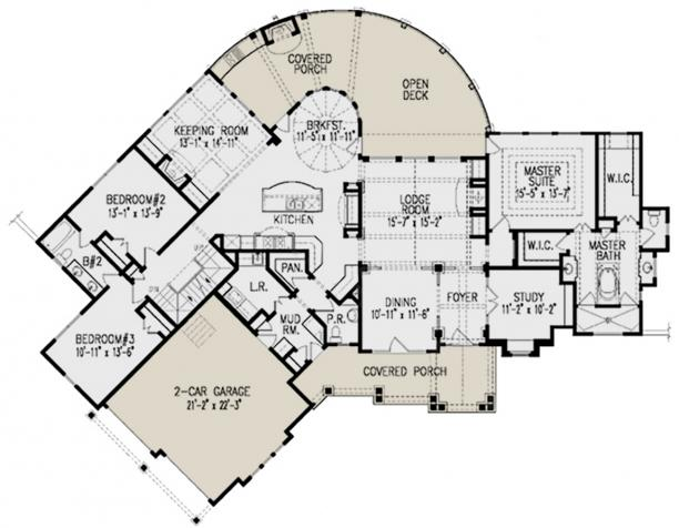 Lake Front Plan 2 611 Square Feet 3 Bedrooms 2 5
