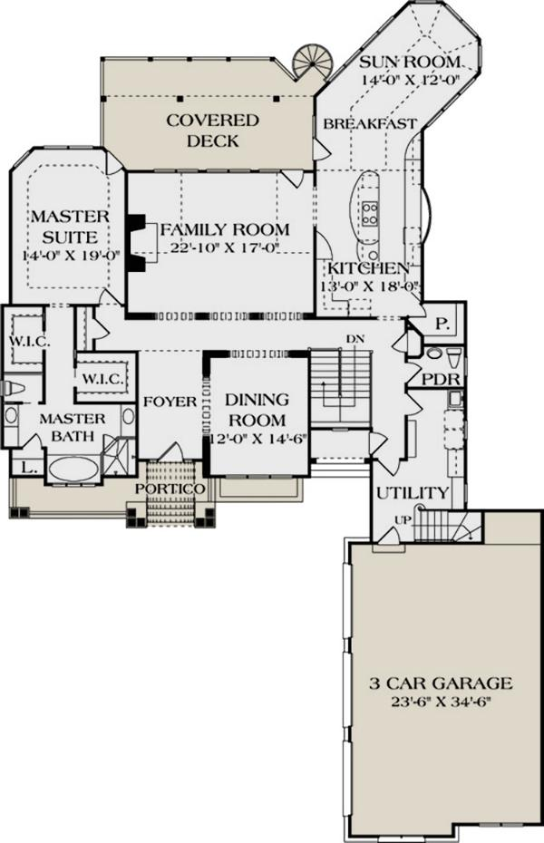 Lake Front Plan 4 304 Square Feet 4 Bedrooms 4 5