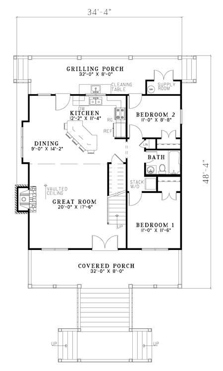 Cape Cod Plan 1 544 Square Feet 3 Bedrooms 2 Bathrooms