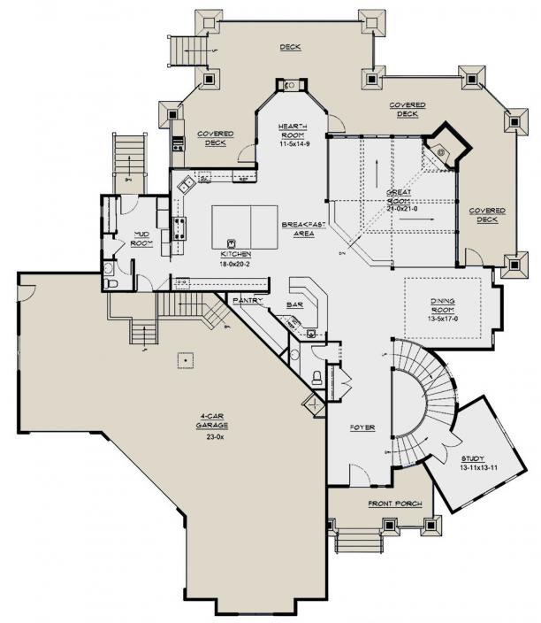 Lake Front Plan 6 963 Square Feet 5 Bedrooms 5 5