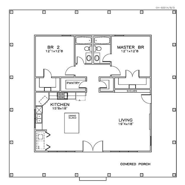 Cottage Bathroom Floor Plans : Country plan square feet bedrooms bathrooms