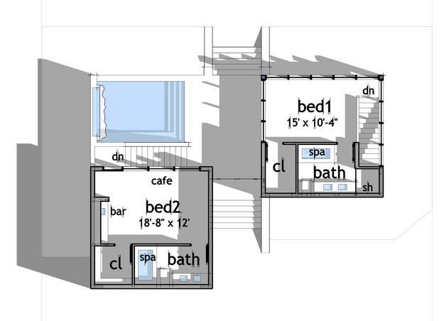 Modern Plan 1 200 Square Feet 2 Bedrooms 2 Bathrooms