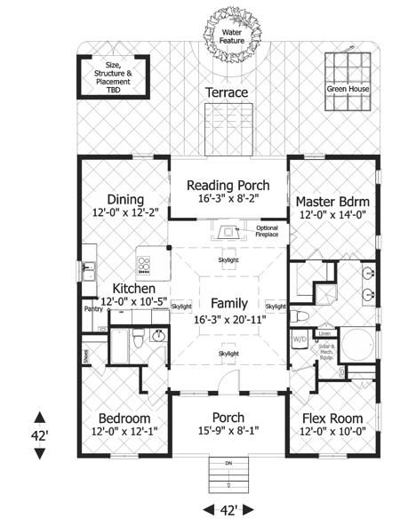 Bungalow Plan 1 488 Square Feet 3 Bedrooms 2 Bathrooms