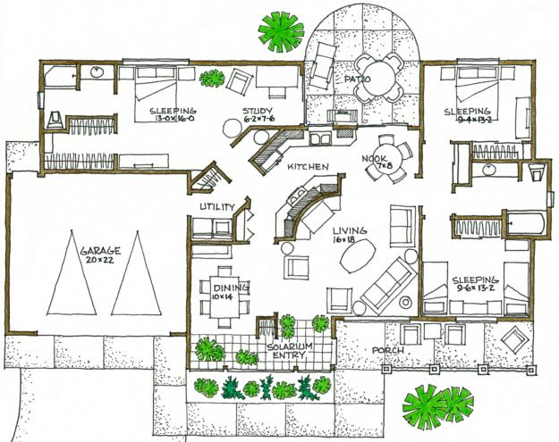 green plan: 1,600 square feet, 3 bedrooms, 2 bathrooms - 192-00029