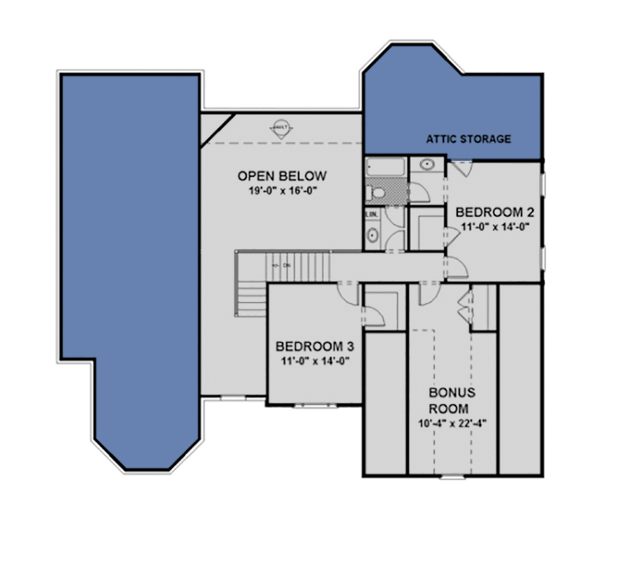 Second Floor for House Plan #036-00102