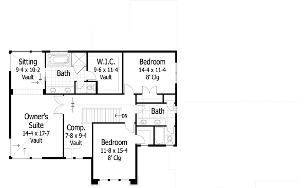 Floorplan 2 for House Plan #098-00187