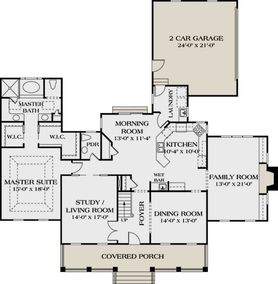 Southern Plan 3 338 Square Feet 4 Bedrooms 3 5