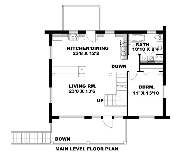Log Plan 1 485 Square Feet 2 Bedrooms 2 Bathrooms 039
