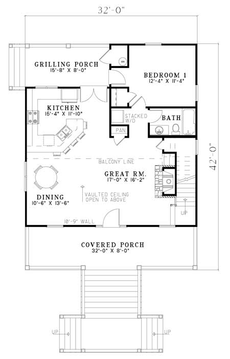 Cabin plan 1 400 square feet 2 bedrooms 2 bathrooms for 1400 sq ft floor plans