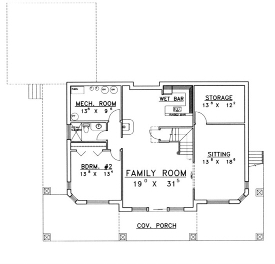Lake Front Plan: 3,304 Square Feet, 2 Bedrooms, 3 Bathrooms - 039-00160