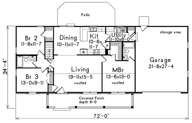 1400 Sq Ft House Plans 3 Bedroom