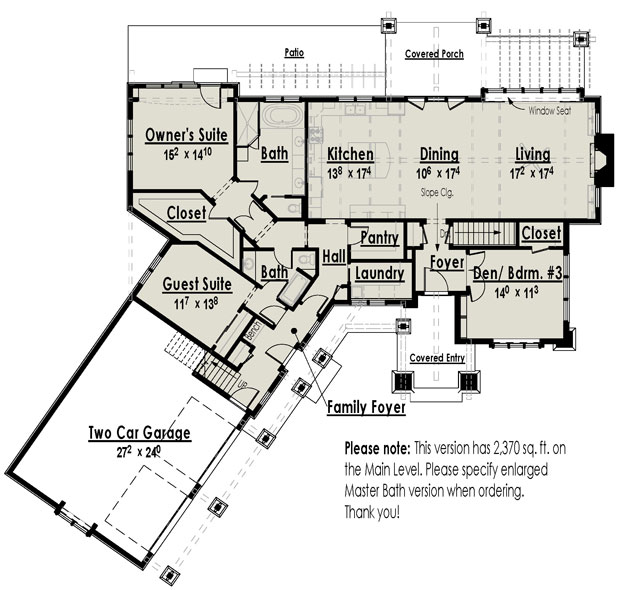 Basement Plan: 2,221 Square Feet, 2-3 Bedrooms, 2