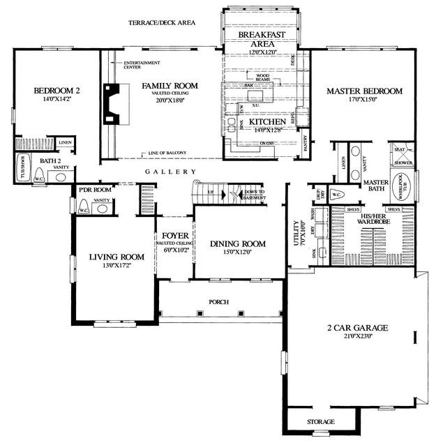 Basement Plan: 3,549 Square Feet, 4 Bedrooms, 4.5