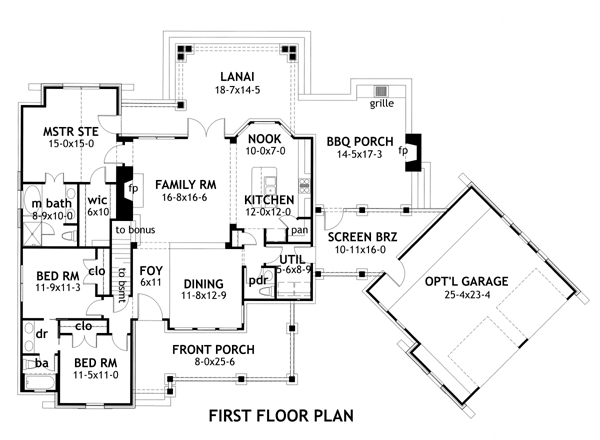 House Plans With Detached Garage Home Plans With Detached Garages – Floor Plans With Detached Garage