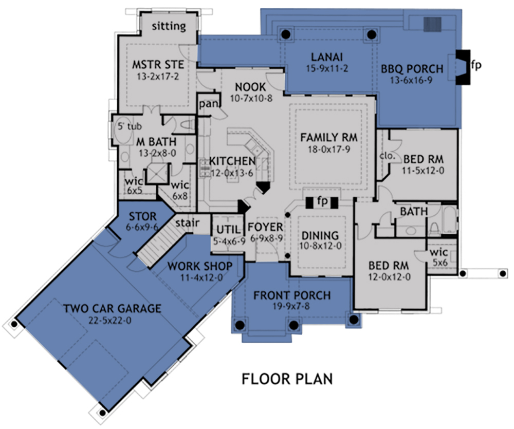 Plan 66342we 3 Bed Beauty With 2 Lanai: Craftsman Plan: 1,848 Square Feet, 3 Bedrooms, 2 Bathrooms