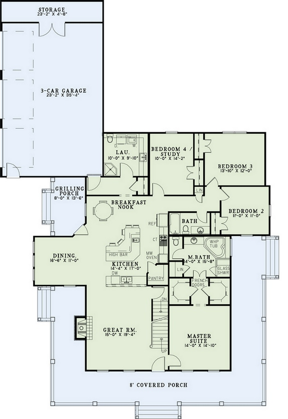 Farmhouse plan 2 173 square feet 4 bedrooms 3 bathrooms for 110 square feet room