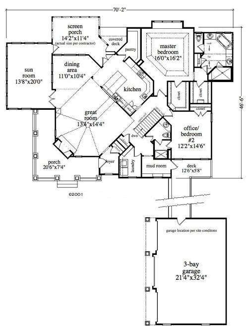 Lake Front Plan 2292 Square Feet 2 4 Bedrooms 2 Bathrooms