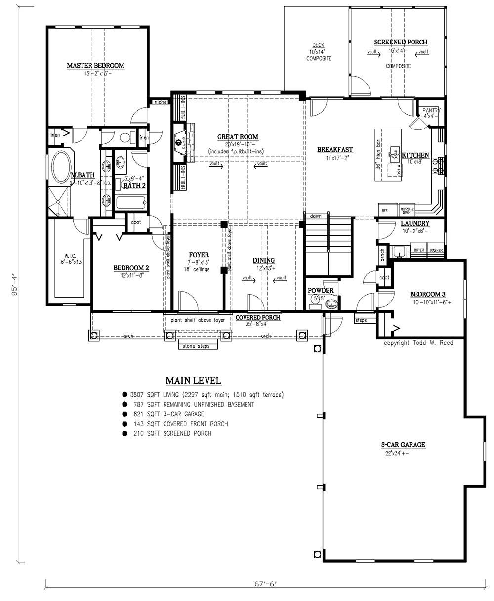 craftsman plan 2 297 square feet 3 bedrooms 2 5 bathrooms 286 photo