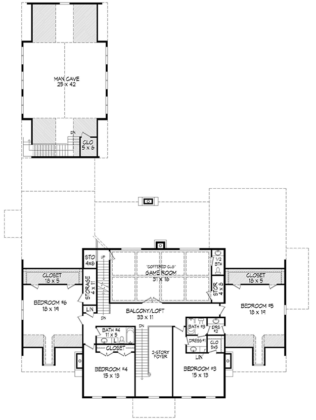 Colonial Plan 6858 Square Feet 6 Bedrooms 45 Bathrooms 940 00020