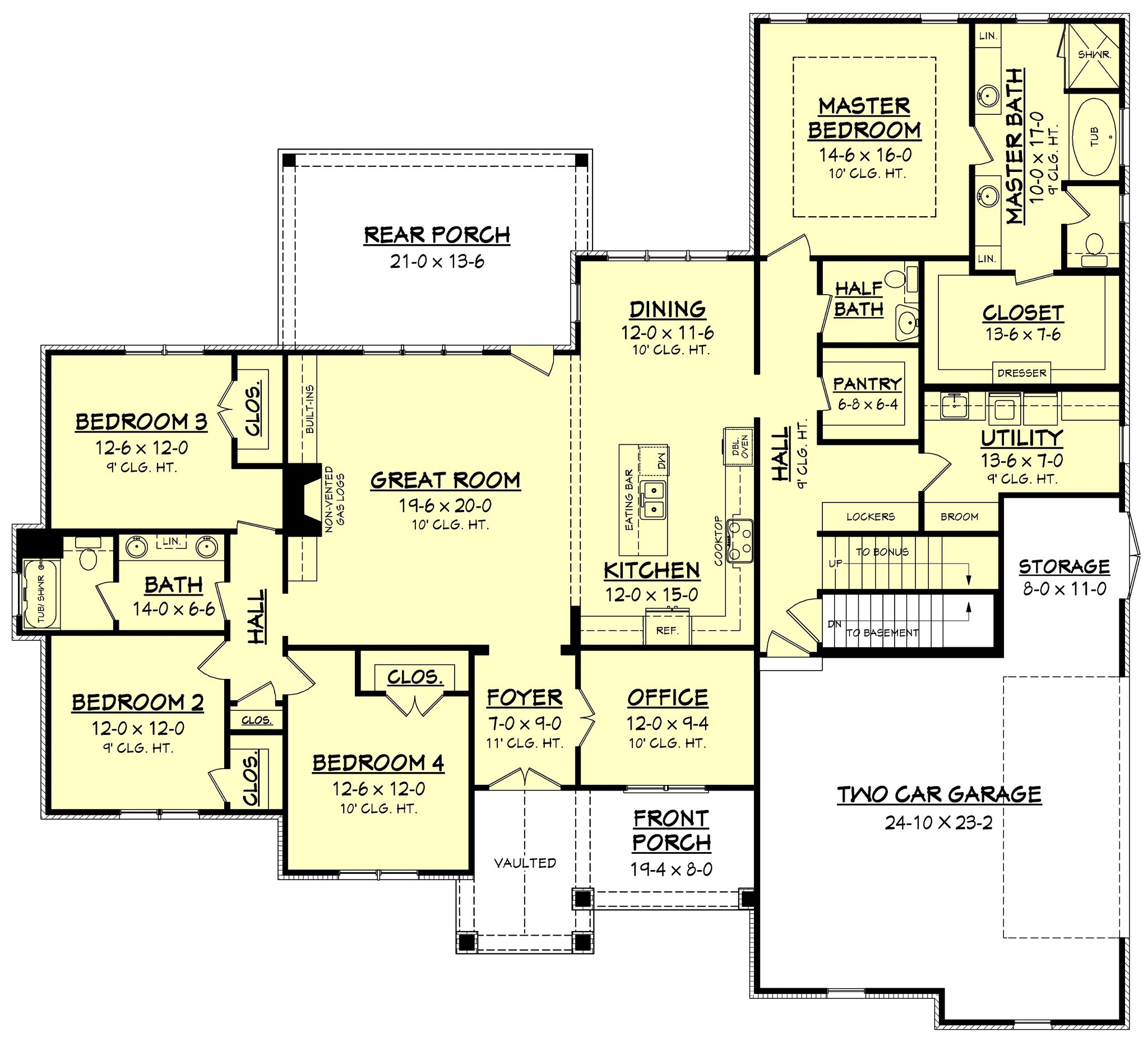 European Plan 2 641 Square Feet 4 Bedrooms 2 5