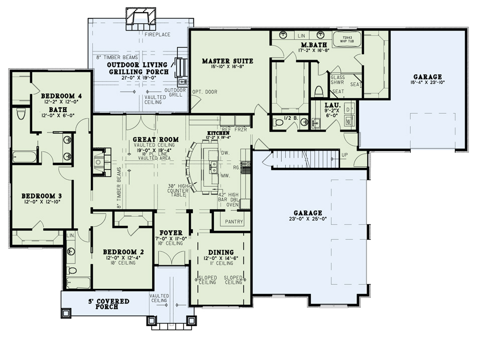 Main for House Plan #110-01046